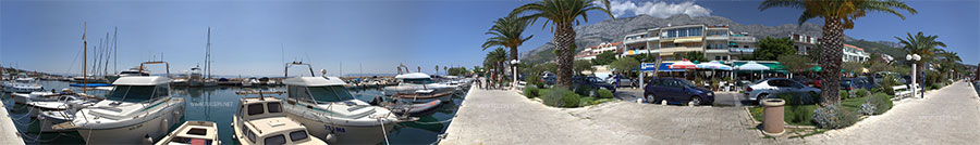 Marine and promenade in Tučepi - 360°panoramic view